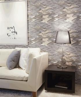 时尚冷色系客厅台灯效果图片