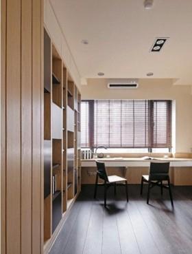 简约家居书房圣象木地板装修