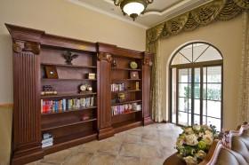 室内装修实木书柜图片欣赏