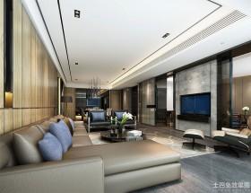 现代新古典140平方米四室两厅客厅装修效果图