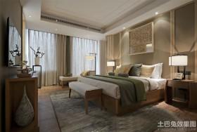 130平现代风格三居卧室装修效果图