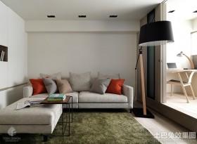 现代风格80平方米两室一厅休闲区效果图