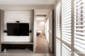 现代风格90平方米两室两厅电视墙装修效果图