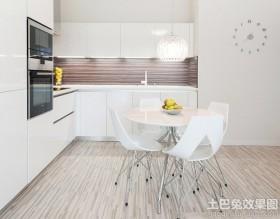 白色简约厨房餐厅装修效果图