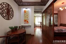 中式风格70平米两室一厅卧室隔断装修效果图