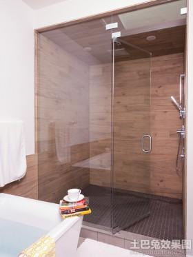 卫生间地板淋浴房设计图片欣赏