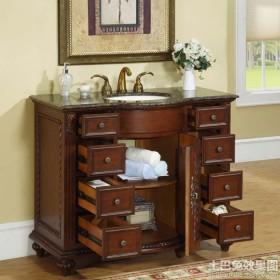 欧式古典风格浴室柜图片