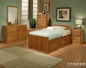卧室组合橡木家具图片