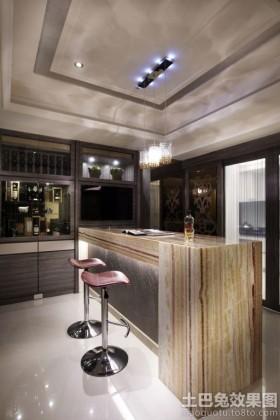 现代二居室家庭吧台装修效果图