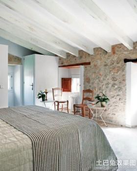 乡村别墅卧室布置图片