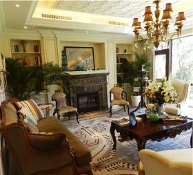 欧美风情130平三室两厅客厅装修效果图大全