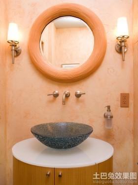 玻璃卫生间洗脸盆图片