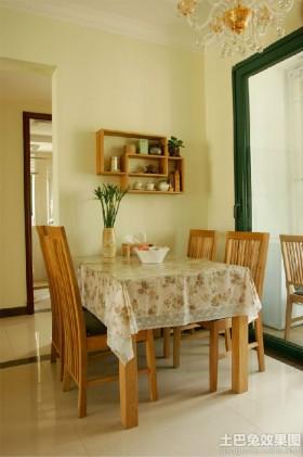田园风格两室一厅餐厅装修效果图