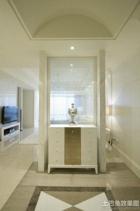 欧式风格玄关欧式装修玄关玻璃隔断效果图