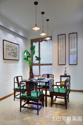 混搭风格二居室家庭餐厅装修图片