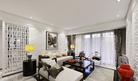 新中式风格100平米两室两厅客厅装修效果图