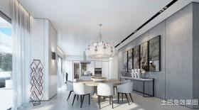 简约创意风格四室两厅餐厅装修效果图