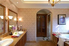 新古典风格别墅一体式卫生间镜台设计图片