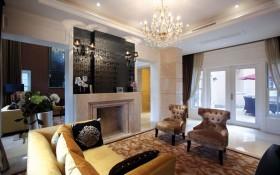 混搭风格别墅大厅水晶灯饰图片