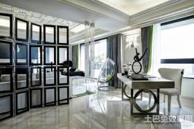 新古典风格室内家具时尚书桌效果图