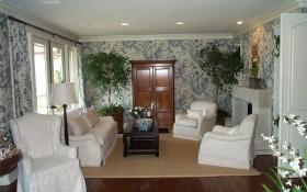 美式田园风格复式家庭客厅装修装饰图片