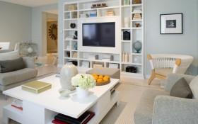 北欧风格家居客厅家具组合电视柜效果图