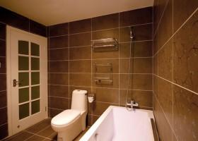 韩式风格瓷砖卫生间门效果图片