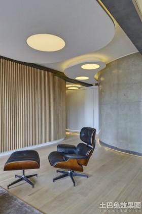现代时尚风格休闲区装修设计图