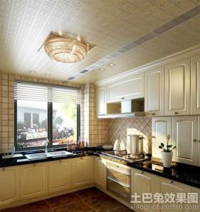 东南亚风格家装厨房吊顶装修效果图