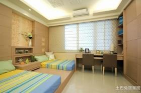 韩式风格双人儿童房装修图片