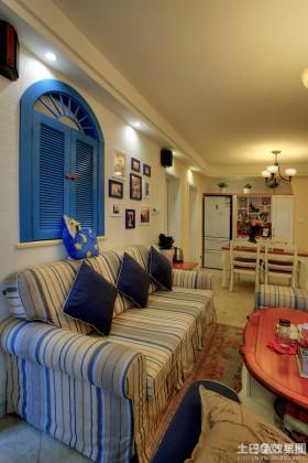 地中海风格沙发背景墙设计