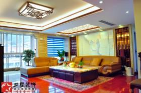 中式风格两室两厅客厅装修图