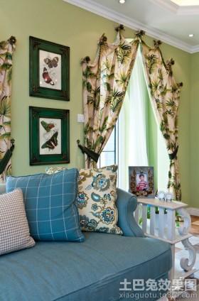 室内时尚地中海窗帘效果图