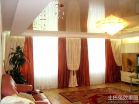 迪拜豪华别墅大厅窗帘效果图