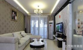 70平米现代小户型客厅装修效果图