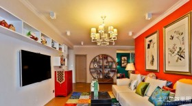 混搭风格两室一厅家庭客厅装修设计