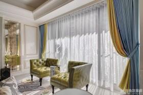 新古典风格客厅窗帘效果图片