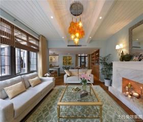 时尚家装110平米两室两厅家庭客厅装修