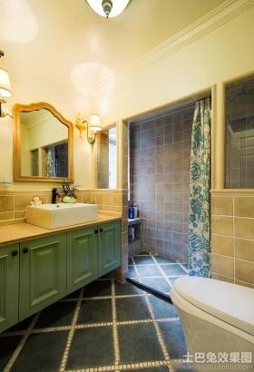 美式风格装修家用卫生间效果图片