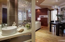 现代室内干区洗脸盆图片
