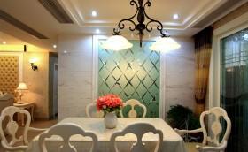 欧式风格家装餐厅铁艺灯具效果图