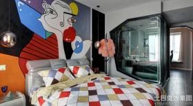 100平二居室创意风格卧室装修效果图