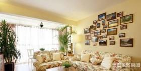 田园风格客厅照片墙装修效果图大全