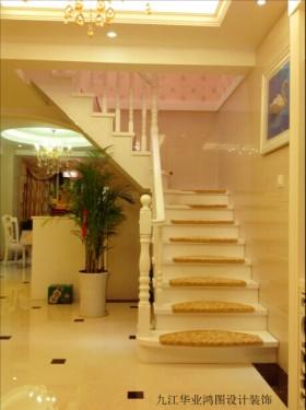 风格跃层欧式家庭楼梯装修效果图片欣赏