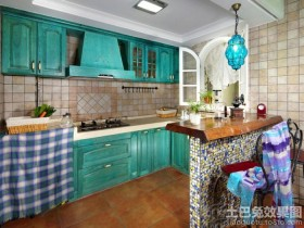 混搭风格厨房装修效果图欣赏