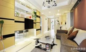 80平米现代风格两室两厅家庭客厅装修图片2014