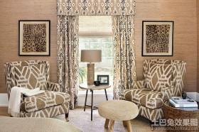 北欧风格休闲区窗帘装修效果图