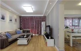 简约110平米两室两厅装修客厅效果图