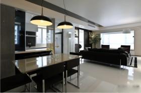现代风格两室一厅室内餐厅吊灯图片