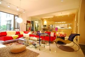 创意风格四室两厅家庭客厅设计